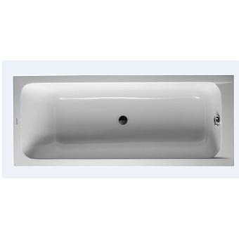 Duravit D-Code Ванна акриловая прямоугольная 1700х700 мм, встраиваемая, с 1 наклоном для спины, выпуск центральный, цвет белый