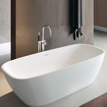 Gruppo Treesse Brio Ванна отдельностоящая 170х72х56 см, из искусственного камня, цвет: белый матовый