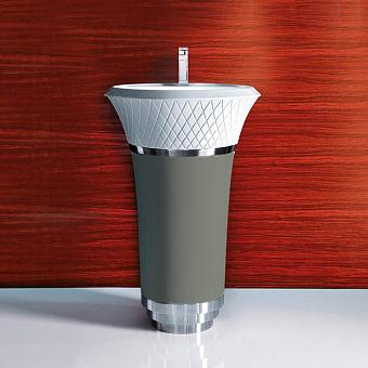 Falper George Раковина напольная 58х58х87 см, выпуск в стену, цвет: глина