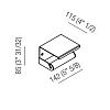 Agape Mach 2 Держатель для туалетной бумаги подвесной 14.2x8.5 см, цвет: сатин