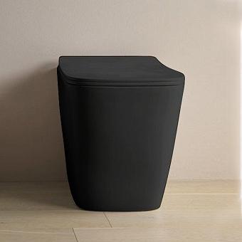 Artceram A16 Унитаз напольный, 52,5х36см, безободковый, слив универсальный, с крепежом, цвет: черный матовый