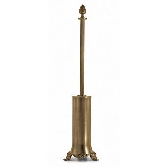 3SC Bally Туалетный ёршик напольный, ручка Queen, цвет: золото 24к. Lucido