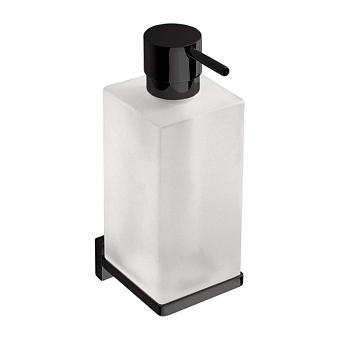 Colombo Look Дозатор для жидкого мыла подвесной, цвет: чёрный матовый/стекло