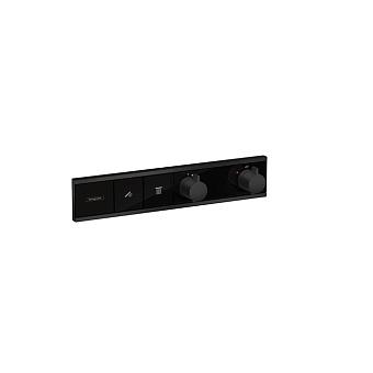 Hansgrohe RainSelect Термостат для душа, 2 источника, цвет: черный матовый