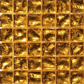 Mosaico+ Doro Мозаика 32,7x32,7см., универсальная, стекло, цвет: yellow gold wavy