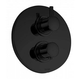 Встраиваемый термостатический смеситель для душа Bongio T Mix, цвет: черный матовый