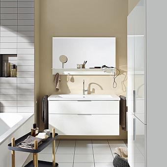 Burgbad Eqio Комплект мебели с раковиной 1230 мм, цвет: белый глянец