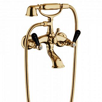 Bongio Mille Nuits, Смеситель для ванны, цвет: золото/черный фарфор