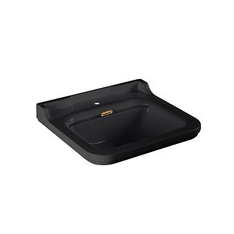 Kerasan Waldorf Раковина керамическая 60х55см, 1 отв., цвет: черный/ бронза