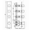 Zucchetti Jingle Встроенный термостатический смеситель с 3 запорными клапанами, цвет: хром