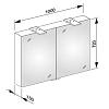 Keuco Royal 15 Зеркальный шкаф с подсветкой 1000x720x150 мм