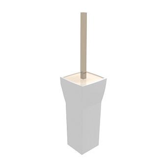 Bertocci Grace Ерш напольный, цвет: белая керамика/nichel mat