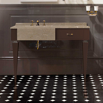 Devon&Devon Bentley, Комплект мебели  мрамор Crema marfil, фурн. золото, Цвет: fangо