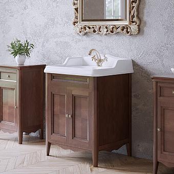TW Veronica Nuovo комплект мебели с 2-мя дверцами, с доводчиками Blum, ручки: бронза, 68см, Цвет: noce