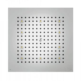 BOSSINI DREAM-CUBE Верхний душ 470 x 470 мм, с 8 LED  RGB, блок питания/управления, Cromoterapia, гибкая подводка, цвет: хром
