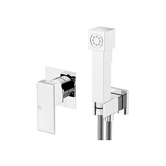 Gattoni Kubik Гигиенический душ со встроенным смесителем, цвет: хром