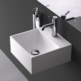 Agape Handwash Раковина подвесная 35x35x15 см, квадратная, 1 отв., цвет: белый