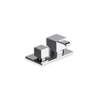Cristina Quadri Смеситель для ванны с переключателем на 2 выхода, цвет: хром