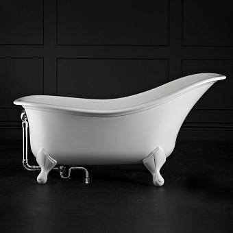 Victoria + Albert Drayton, Ванна, 168.5х84.2 см, quarrycast, ножки белые, Цвет: белый