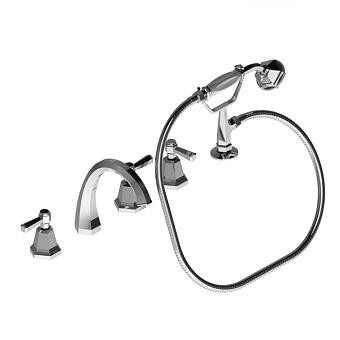 Stella Eccelsa Leve Смеситель на борт ванны на 5 отверстий 3256TR/307, цвет: хром