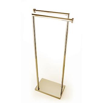 3SC Ribbon Напольная стойка с 2 полотенцедержателями 30х18хh83см, цвет: золото 24к. Lucido