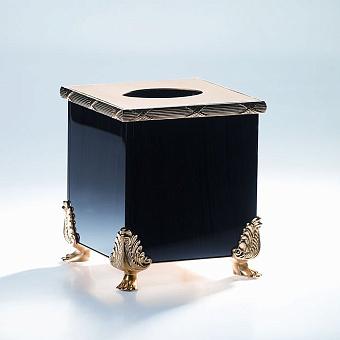 Cristal et Bronze Obsidian Диспенсер для бумажных полотенец из обсидиана