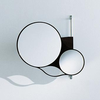 Agape Spin Двойное зеркало 47x44 см, цвет: темный дуб