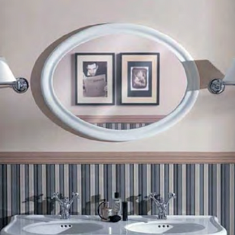 SIMAS Lante Зеркало овальное 90х62см, цвета рамы bianco