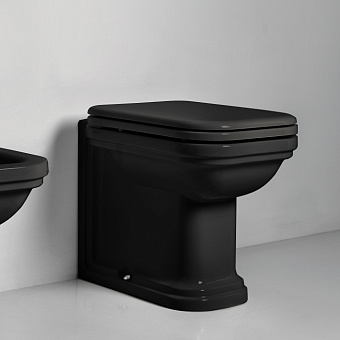 Kerasan Waldorf Унитаз напольный пристенный 55х37см, цвет: черный, СИДЕНЬЕ НА ВЫБОР