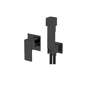 Gattoni Гигиенический душ, встроенный смеситель, шланг 150см, цвет: черный
