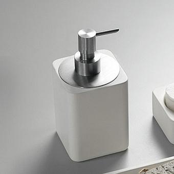 Agape Surf Дозатор для мыла, цвет: хром/белый