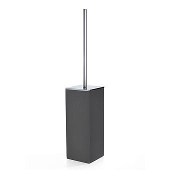 3SC Mood Black Туалетный ёршик, напольный,  композит Solid Surface, цвет: чёрный матовый/хром