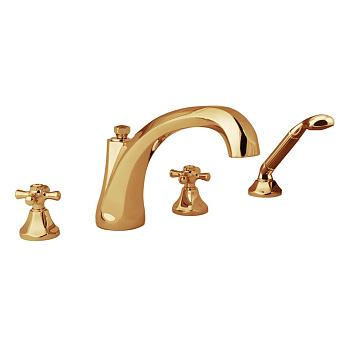 Cristal et Bronze Charlety Смеситель для ванны, цвет золото 24 к.