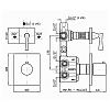 Zucchetti Bellagio Встроенный термостатический смеситель 1/2, цвет: хром