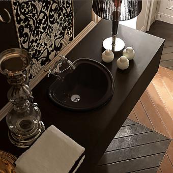 Kerasan Retro Раковина встраиваемая 50х41см, без отв под смесительс переливом, цвет: черный