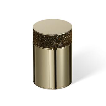 Decor Walther Rocks BMD1 Баночка универсальная 6.5x9.8см, с кристаллами Swarovski, цвет: золото
