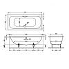 BETTE Duett Ванна 170х75х42 см, прямоугольная, с шумоизоляцией, BetteGlasur® Plus, цвет: белый