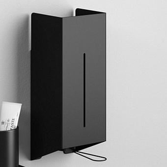 Agape Mach 2 Дозатор для жидкого мыла подвесной 40x17.1x12.3 см, цвет: черный