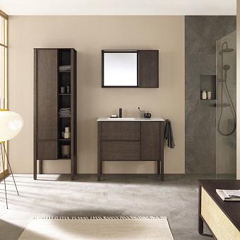 Burgbad MAX Комплект мебели 100х49х91.2см, напольный, с раковиной, с зеркалом, с 2 ящиками, цвет: Dark chocolate oak
