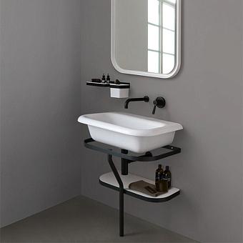 Agape Ottocento Раковина на стальной структуре 70x50x19.6 см, без отв., цвет: белый