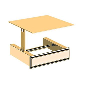 Gessi Eleganza Держатель для туалетной бумаги с крышкой, подвесной, цвет: золото
