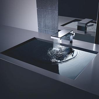 Axor MyEdition Смеситель для раковины, на 1 отв., излив 200мм, со сливным гарнитуром, цвет: хром/зеркальное стекло