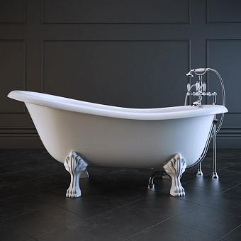 Victoria + Albert Roxburgh, Ванна 170.4х80.9х75,2 см, ножки металлические белые, цвет: белый
