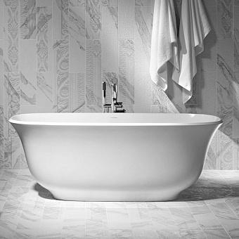 Victoria + Albert Amiata, Ванна 164.5х80 см с встр. базой без перелива, quarrycast, Цвет: белый