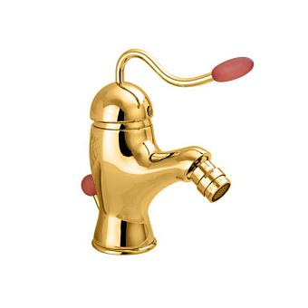 Nicolazzi Signal Смеситель для раковины, на 1 отв, с донным клапаном, излив: 107 мм, цвет: золото