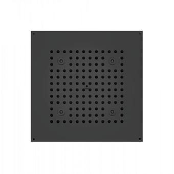 BOSSINI DREAM-CUBE Верхний душ 470 x 370 мм, с 4 LED RGB, блок питания/управления, Cromoterapia, гибкая подводка, цвет: черный матовый