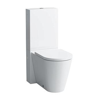 Laufen Kartell Унитаз напольный 56x37x43см, выпуск универсальный, безободковый, цвет: белый