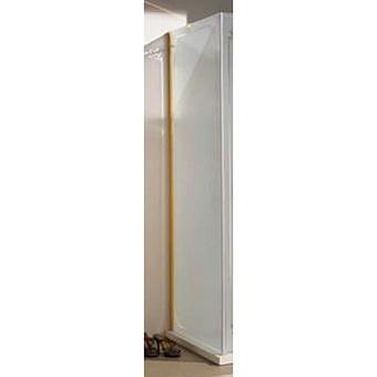 SAMO FDT Боковая стенка 85,5-88хh187,5 см, проф. бронза, матовое стекло+декор Trevi