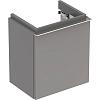 Geberit iCon Тумба с раковиной 37х42х28см, с 1 отв., подвесная, с одной дверью, цвет: цвет: платиновый