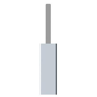 Bertocci Fly Ерш напольный из композита, цвет: серый/хром
